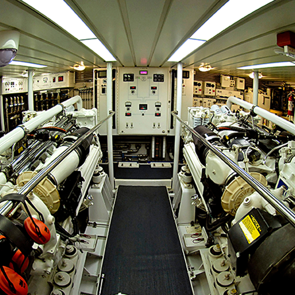 Supreme Marine VIP image of a superyacht engine room