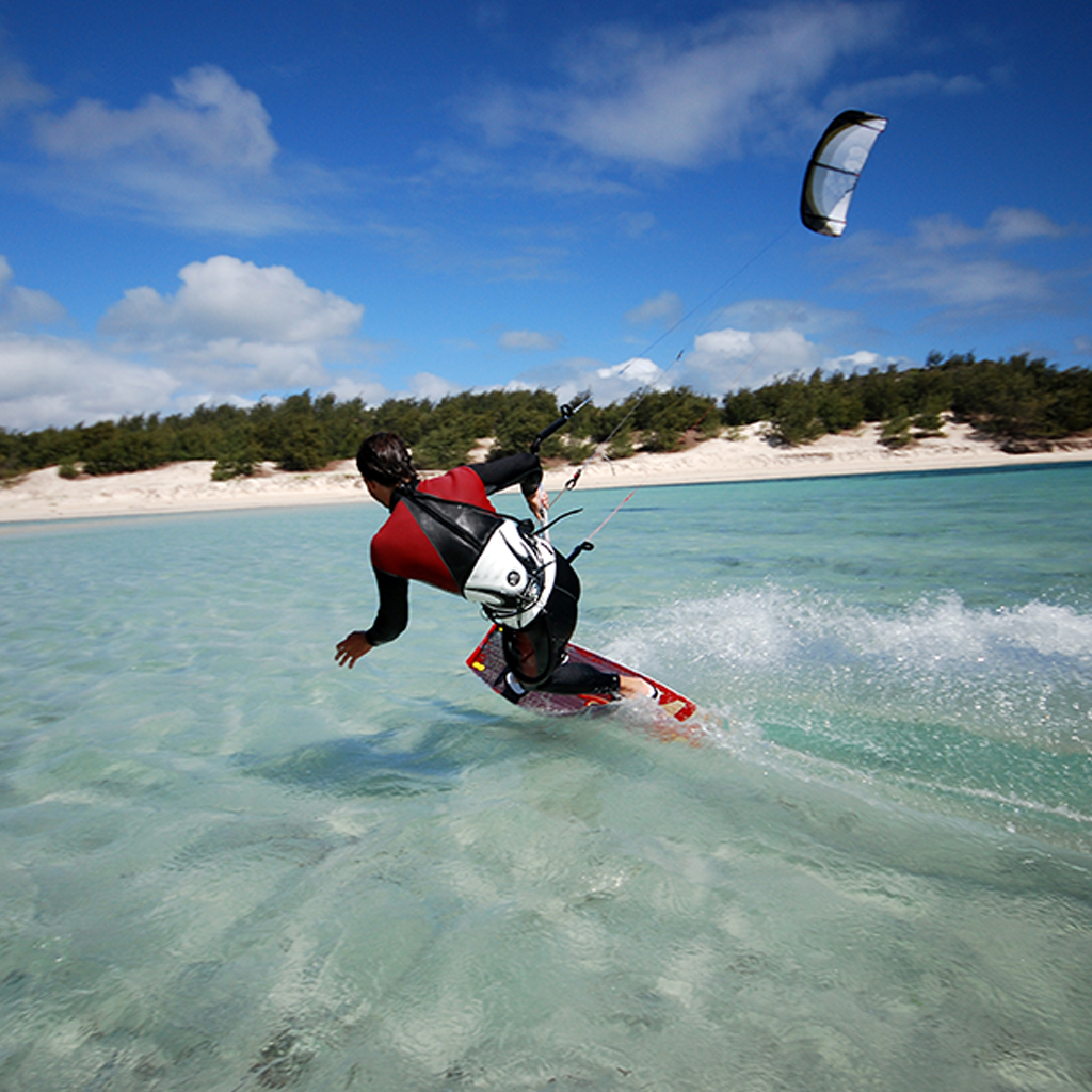Supreme Marine VIP image of a man wake boarding